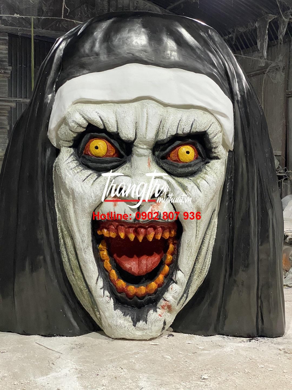 Mô hình mặt phù thủy trang trí halloween
