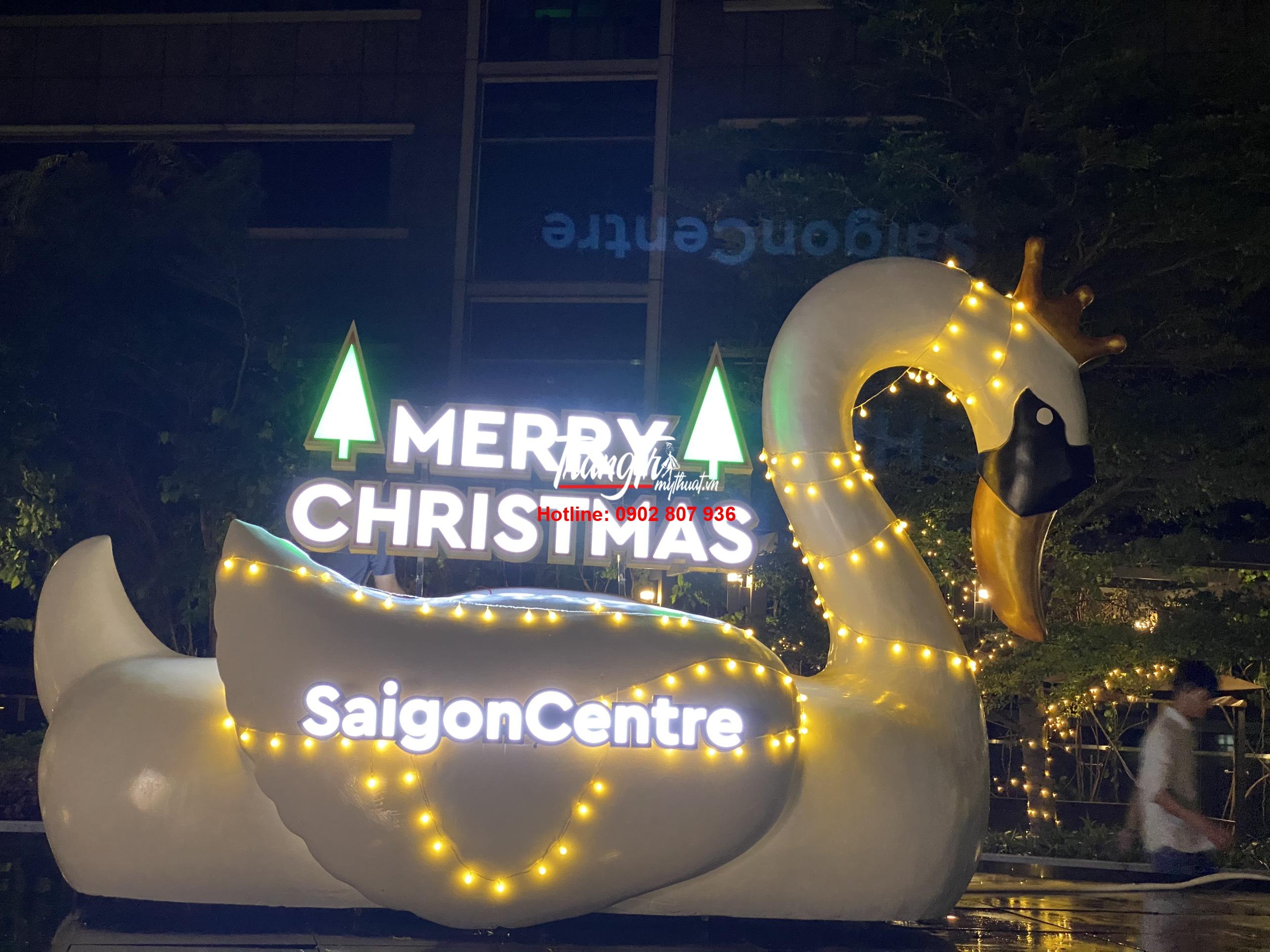 Mô hình thiên nga trang trí Noel