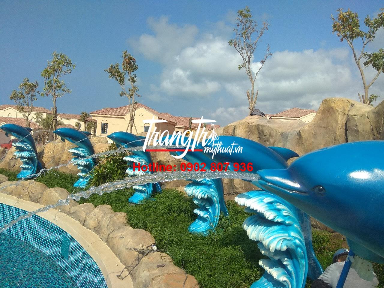 Công trình điêu khắc tượng trang trí nhựa Composite khu vui chơi, công viên nước